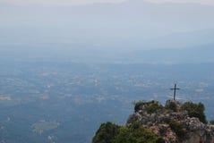Traversa e montagne sante Fotografie Stock Libere da Diritti