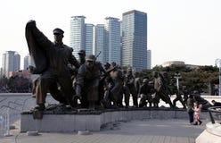 Traversa e montagne Seoul IL SUD COREA Fotografia Stock Libera da Diritti