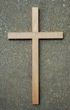 Traversa e pietra di legno Fotografie Stock Libere da Diritti