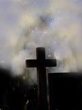 Traversa nella nebbia Fotografia Stock