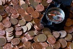 Traversando nel mare finanziario Fotografie Stock Libere da Diritti