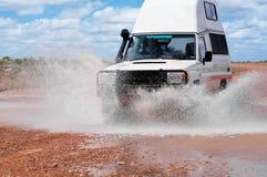 Traversata del floodway Fotografie Stock
