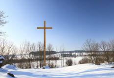 Traverse di legno christianity immagini stock
