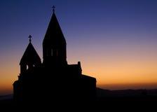 Traverse sulla chiesa Fotografia Stock
