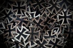 Traverse tedesche del ferro come trofeo Fotografia Stock Libera da Diritti
