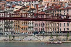 Traversee de Lyon (the crossing of Lyon) Stock Photo