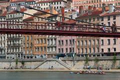 Traversee de Lyon (korsningen av Lyon) Arkivfoto