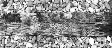 Traversina di legno Fotografie Stock Libere da Diritti