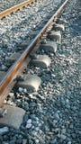Traversine ferroviarie Immagini Stock Libere da Diritti