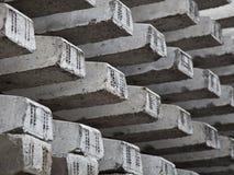 Traversine ferroviarie concrete Immagini Stock