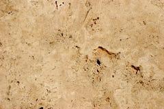 Travertin-Stein Hintergrund - Nahaufnahme Lizenzfreie Stockfotografie