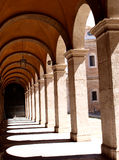 Travertine arches Stock Images