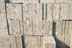 Travertine Blocks Royalty Free Stock Photo
