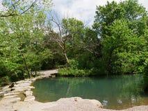 Travertine Creek, Chickasaw National Recreation Area in Sulphur, Oklahoma Stock Photography