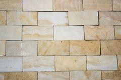 Travertine Decorative bricks texture. Travertine Decorative bricks orange texture Stock Photography