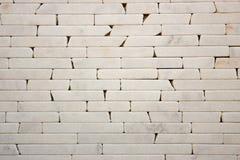 Travertine Decorative bricks texture. Travertine Decorative bricks white texture Stock Photo