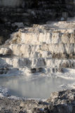 Travertine formation in Mammoth Hot Springs Stock Photography