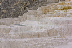 Travertine in a Hot Spring Royalty Free Stock Images