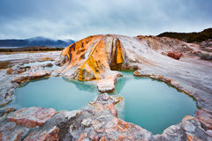 Travertine Hot Springs. Outside Bridgeport California along famous highway 395 in the easter sierras is almost like being in Iceland Royalty Free Stock Photos
