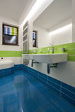 Travertine house - bathroom Stock Image