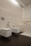 Travertine house - bathroom Stock Photo