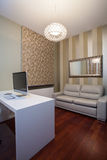 Travertine house - comfortable office Stock Photography