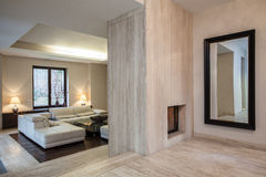Travertine house: Hallway Royalty Free Stock Photography