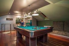 Travertine house - modern attic Royalty Free Stock Photo