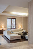 Travertine house: Modern interior Stock Image