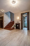 Travertine house: staircase Stock Images