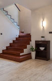 Travertine house: staircase Stock Photos
