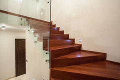 Travertine house - staircase Royalty Free Stock Images