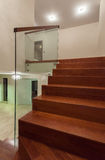 Travertine house - well designed staircase Royalty Free Stock Photo