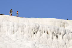 Travertine on the march, Pamukkale. The travertines of Pamukkale, in central Turkey, are formed by calcium-rich mineral water Royalty Free Stock Photography