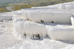 Travertine in pamukkale Stock Photography