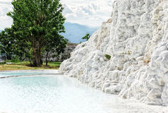 Travertine pool Royalty Free Stock Images