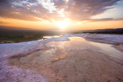 Travertine pools Royalty Free Stock Photography