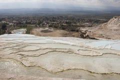 Travertine Pools Above Pamukkale, Turkey Royalty Free Stock Image