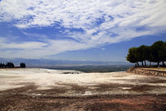 Travertine pools at ancient Hierapolis, now Pamukkale, Turkey. 20 july, 2014 Stock Images