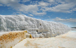 Travertine pools in Pamukkale Royalty Free Stock Image