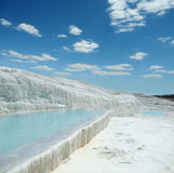 Travertine pools of Pamukkale Stock Images