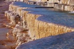Travertine Pools at Pamukkale Royalty Free Stock Images