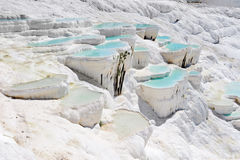 Travertine pools at Pamukkale, turkey Royalty Free Stock Image