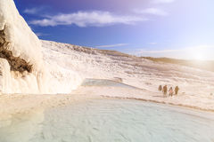 Travertine Pools and Terraces Stock Image