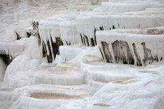 Travertine pools and terraces in Pamukkale Stock Images