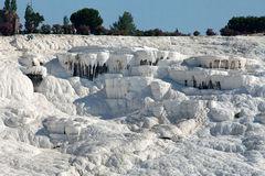Travertine pools and terraces in Pamukkale Stock Photography