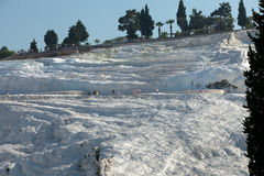 Travertine pools and terraces in Pamukkale Stock Photos