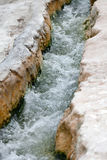 Travertine pools and terraces in Pamukkale Royalty Free Stock Photo