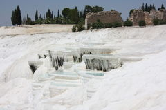 Travertine pools and terraces Royalty Free Stock Image