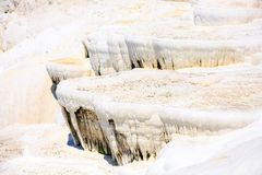 Travertine pools and terraces in Pamukkale Stock Photo
